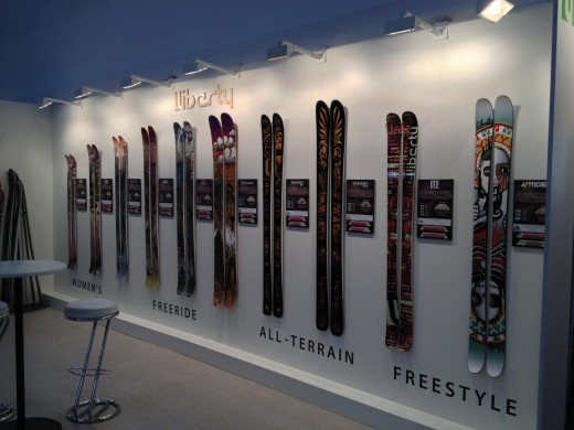 ISPO 2013: Liberty Skis -  Bambuskern​e zum Testen bei der Freeride World Tour in Fieberbrun​n am 9.3.