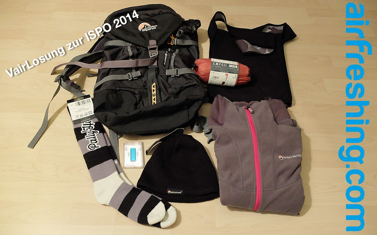 ISPO 2014 – airFreshing-VairLosung: Gewinnspiel-Countdown zum Start der weltgrößten Sportmesse in München