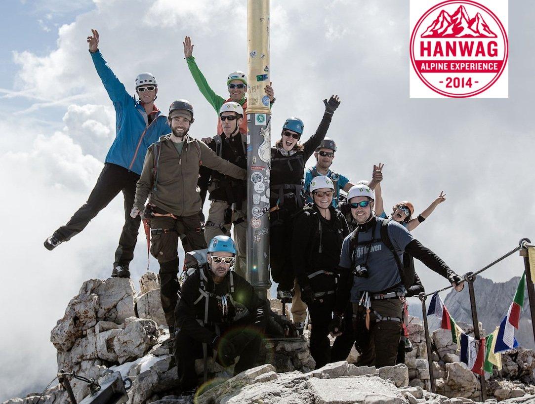 Event – Hanwag Alpine Experience 2014: Mission completed – erfolgreiche Sternbesteigung der Zugspitze (2.962m)