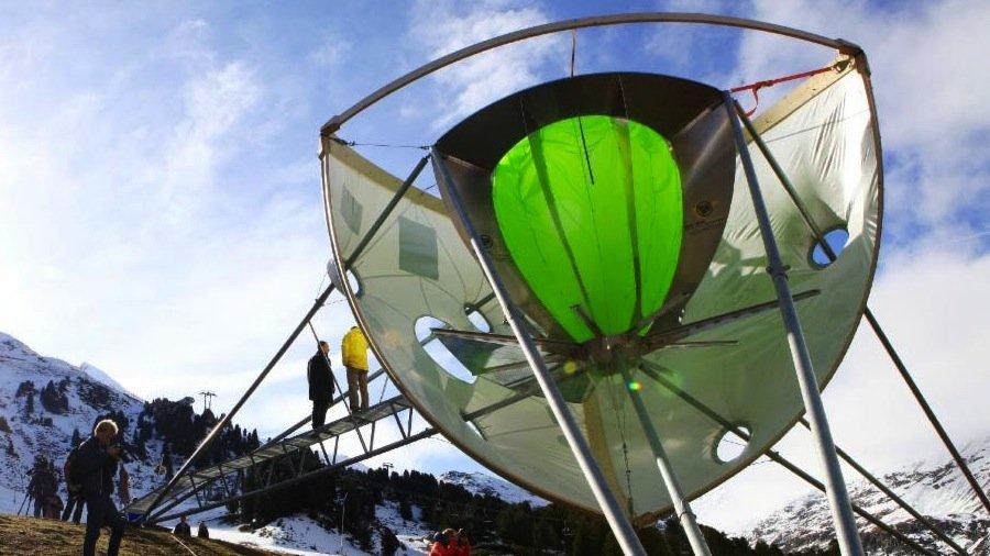 News – Tirol / Österreich: Weltpremiere – künstliche Wolke im Ötztal produziert Pulverschnee auf Knopfdruck