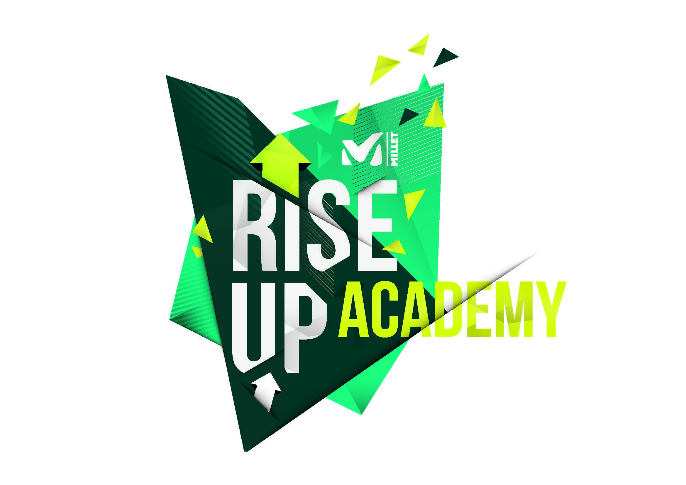 Event - Millet Rise Up Academy 2016: Outdoorspezialist lädt Endverbraucher zum exklusiven Gipfeltreffen nach Grindelwald - offizielles Logo (© Millet)
