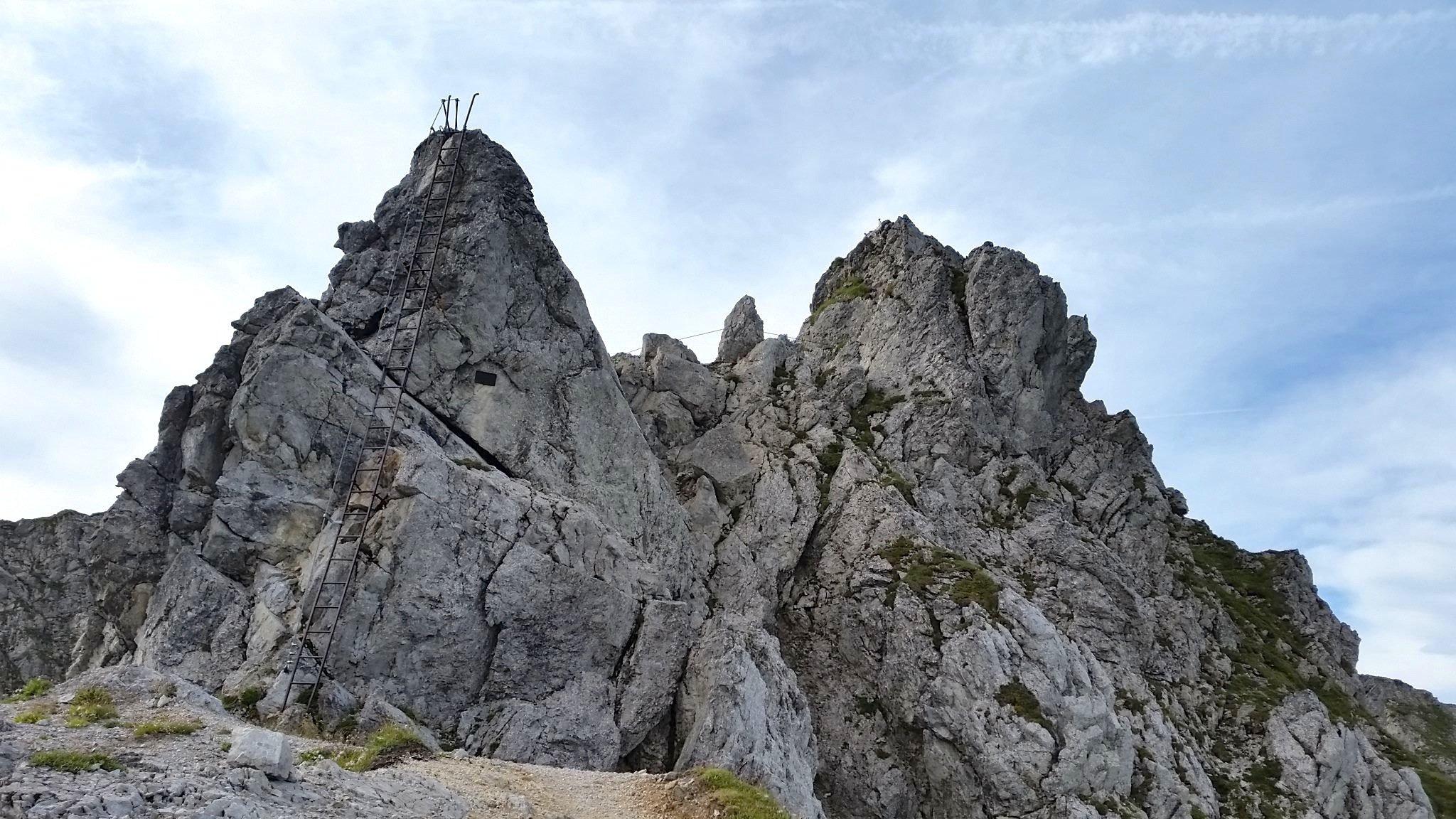 Ziele - Große Klammspitze (2.280m): Die Hohen Gänge sind zwar drahtversichert, aber nicht ganz ohne (© airfreshing.com)