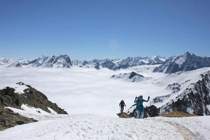 Ziele – Lampsenspitze (2.875m): Mittelschwere und relativ lawinensichere Skitour im Sellraintal / Tirol