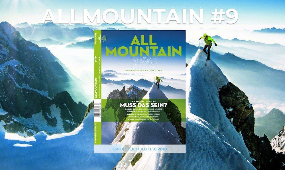 News –  ALLMOUNTAIN #9 / Delius Klasing Verlag: Verzicht – bewusst etwas weg lassen für mehr Freiheit am Berg!