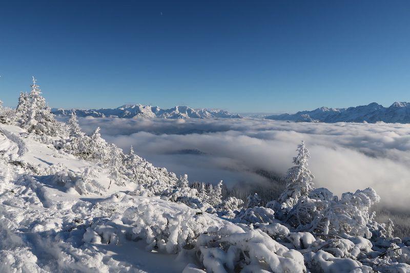 Ziele – Dürrnbachhorn (1.776 m): Mittelschwere Skitour in den Chiemgauer Alpen mit Einkehrschwung