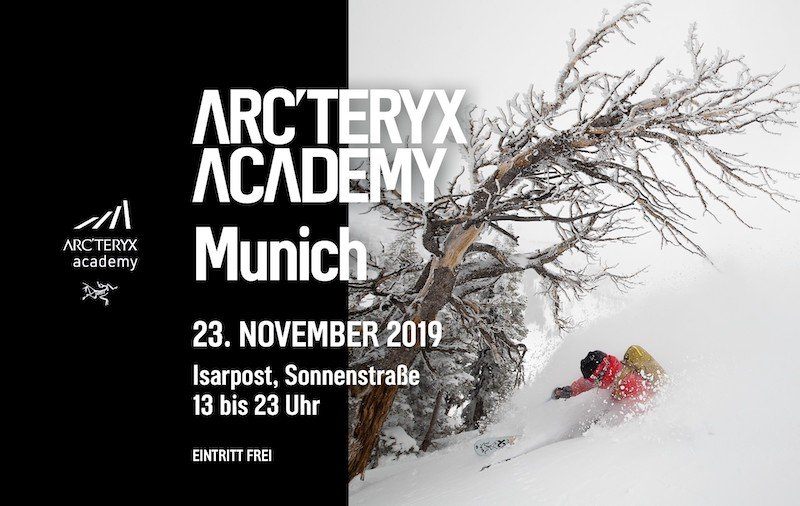 Event – Arc'teryx Academy Munich: Arc'teryx Academy goes München – Filme, Vorträge, Workshops & mehr