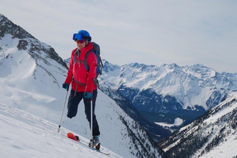 """Winter – Jaqueline Fritz: Mit einem Bein auf Skitour und ins TV-Magazin """"Bergauf Bergab"""""""