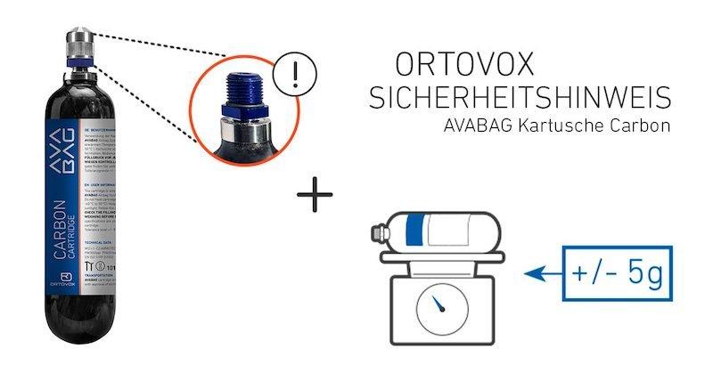 Winter – ORTOVOX Sicherheitshinweis: Einzelne ORTOVOX Avabag Kartuschen Carbon mit fehlerhaftem Adapter