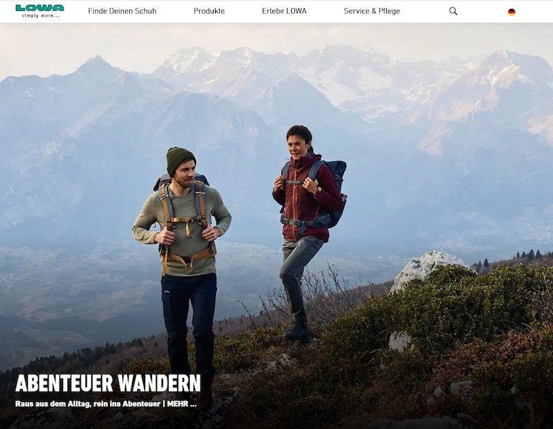 News – LOWA: Traditionsschuster launcht neue Website zum Ausbau globaler Markenpräsenz